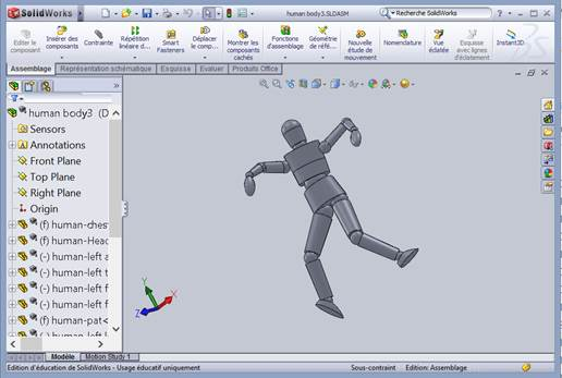 personnage 3d solidworks